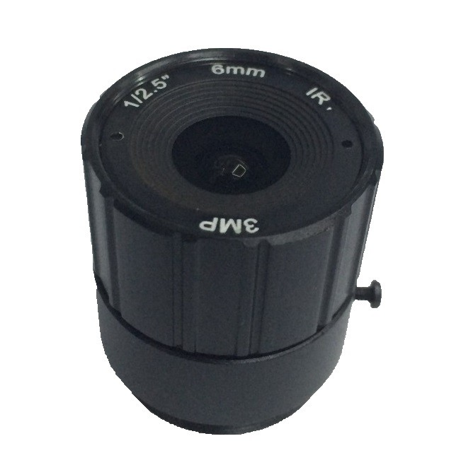 3.0 MegaPixel 6mm 45 Degree Angle 1 2.5 Mount CS Aperture F1.4 CCTV Fixed Lens For CCTV Camera