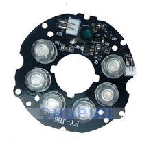 850nm infrared light 6pcs  IR LED board for Surveillance cameras night vision 350mA