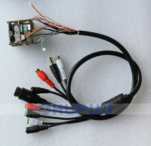 CBF-D29 Ethernet DC power Audio in out Alarm in out RS485 Reset Analog/cvbs tail cable for ip camera -D29 module