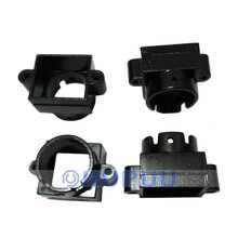 D14 Lens Holder/housing Metal 22mm hole distance (Black, 22mm, height 15.2mm)