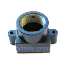 M12 Lens Holder/housing Metal 22mm hole distance (Black, 22mm, height 15.5mm)