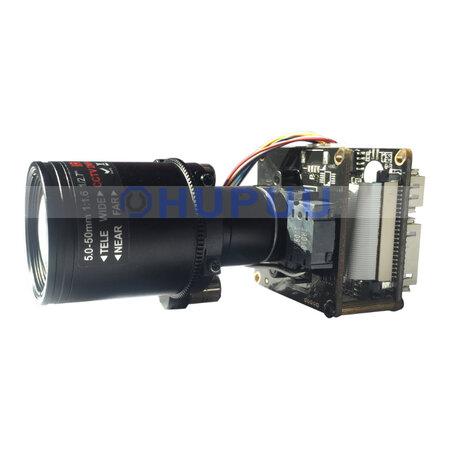 "IPCM-3516DS124-D29-AZ0550 1/2.8"" 3MP Sony Starlight IMX124 + ARM A7 5X 5-50mm Auto Zoom CCTV Security HD CMOS Camera Module (3MP, IMX124)"